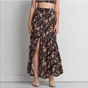 American Eagle Boho Floral Maxi Skirt